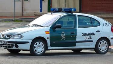 Un véhicule de la Guardia civil, la police espagnole