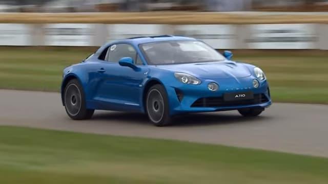L'Alpine A110  présente à Goodwood pour le Festival of Speed 2017