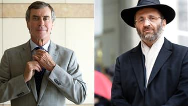 Jérôme Cahuzac et l'ancien grand rabbin de France Gilles Bernheim
