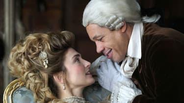 """Julie Gayet et JoeyStarr au casting de """"Dix pour cent"""" sur France 2."""