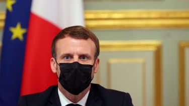 Le président de la République, Emmanuel Macron, à l'Élysée, le 29 octobre 2020 à Paris (photo d'illustration)