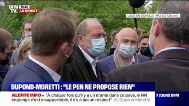 """Éric Dupond-Moretti accuse Marine Le Pen d'""""utiliser la région comme un brouillon pour ses ambitions personnelles"""""""