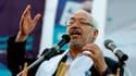 Rached Ghannouchi, leader du parti islamiste tunisien Ennahda, probable vainqueur du scrutin de dimanche.