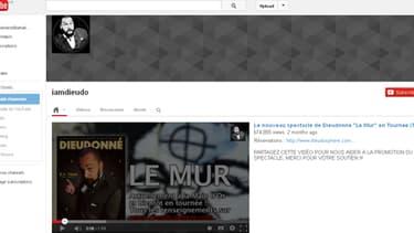 Dieudonné réunit près de 250.000 abonnbés sur l'une de ses deux chaînes YouTube.