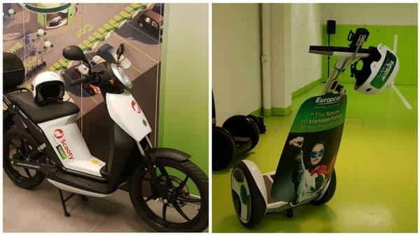 Scooter électrique en autopartage avec la start-up belge Scooty et les Segway de Ninebot, des moyens pour Europcar de se diversifier.