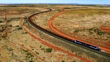 Un train de BHP en Australie, image d'illustration.