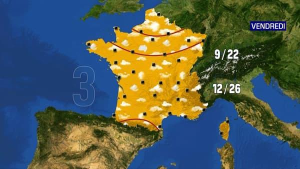 Les prévisions météo du vendredi 28 mai 2021.