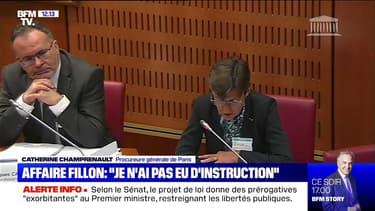 """La procureure générale de Paris dit """"ne pas avoir eu d'instruction"""" dans l'affaire Fillon"""