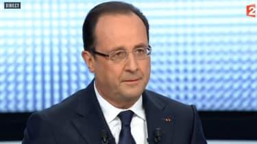 François Hollande, jeudi soir, sur le plateau de France 2.
