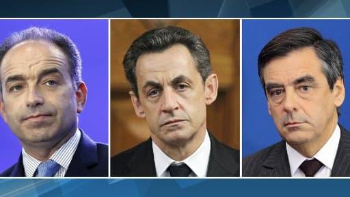 Nicolas Sarkozy encadre Jean-François Copé et François Fillon