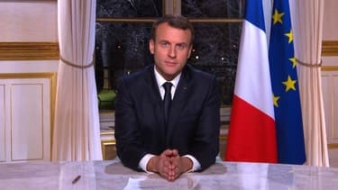 Emmanuel Macron lors de ses voeux aux Français le 31 décembre 2017