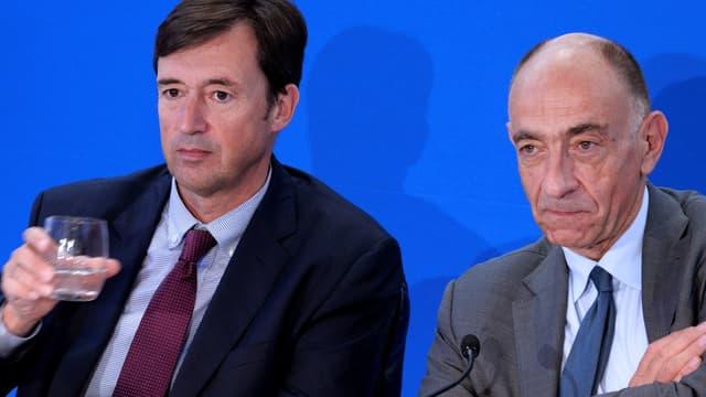 Franck Terner, le nouveau directeur général d'Air France (à gauche), en compagnie de Jean-Marc Jarnaillac, le président de la compagnie.