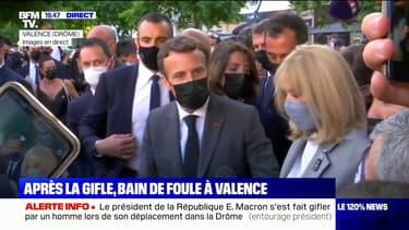 """Emmanuel Macron: """"Il ne faut rien céder à la violence, en particulier contre tous les représentants de la chose publique"""""""