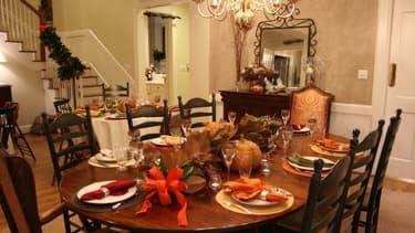 Une table de Thanksgiving (phot d'illustration)