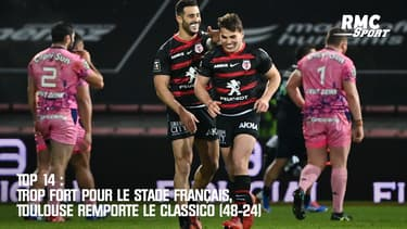 Top 14 : Trop fort pour le Stade Français, Toulouse remporte le Classico (48-24)