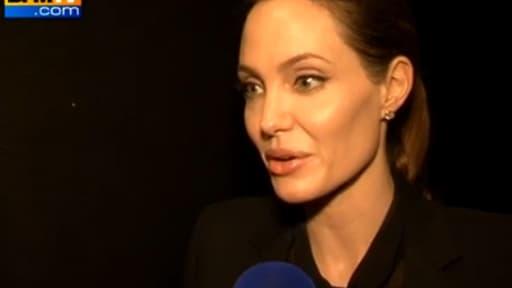 Angelina Jolie, au micro de BFMTV