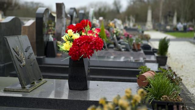 Le cimetière de Champlan, en Essonne, le 4 janvier 2015 (photo d'illustration)