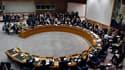 Le Conseil de sécurité de l'Onu a unanimement adopté samedi une résolution imposant un embargo sur les armes, une interdiction de voyager et un gel des avoirs de Mouammar Kadhafi et de ses proches en raison de la répression meurtrière en Libye. /Photo pri