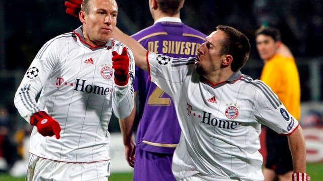 Arjen Robben et Franck Ribéry