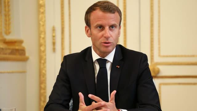 Emmanuel Macron à l'Elysée le 5 septembre 2018