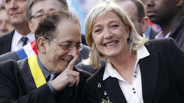 Jean-Richard Sulzer et Marine Le Pen (photo d'illustration)
