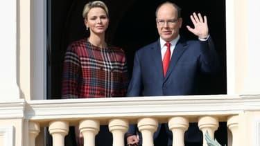 Le prince Albert II de Monaco et la princesse Charlène en juin 2018 (photo d'illustration)