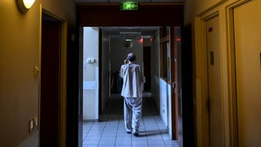 Un établissement hospitalier d'Aubervilliers fin février 2020.