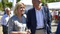 Florence Portelli et Daniel Fasquelle, tous deux candidats à la présidence LR, le 2 septembre lors des journées d'été du parti LR.