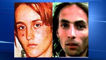 Florence Rey et Audry Maupin, les auteurs de la fusillade qui avait coûté la vie à cinq personnes, à Paris, en octobre 1994.