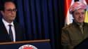 François Hollande et le président irakien Fouad Massoum, vendredi dernier.