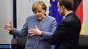 Angela Merkel et Emmanuel Macron lors de la COP23, à Bonn en Allemagne.