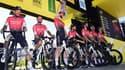 L'équipe Arkéa-Samsic avant le départ du Tour de France