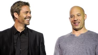 Paul Walker et Vin Diesel, le 17 mars 2009 à Bochum en Allemagne.