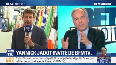 """Yannick Jadot: """"le gouvernement n'assume pas cet accord (CETA) devant l'opinion publique"""""""