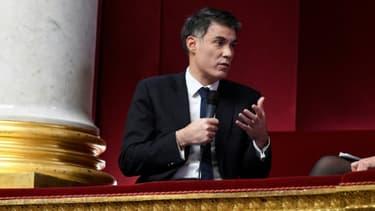 Le porte-parole du parti socialiste Olivier Faure le 14 décembre 2016 à l'Assemblée nationale à Paris