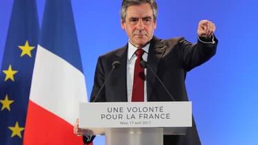 François Fillon à Nice, lundi 17 avril