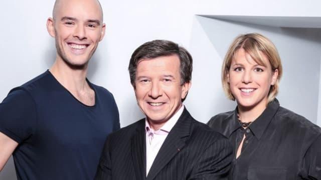 Maxime Barbier (DG de MinuteBuzz), Gilles Pélisson (PDG de TF1) et Laure Lefevre (présidente de MinuteBuzz)