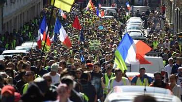 Des gilets jaunes mobilisés à Montpellier, le samedi 23 mars 2019