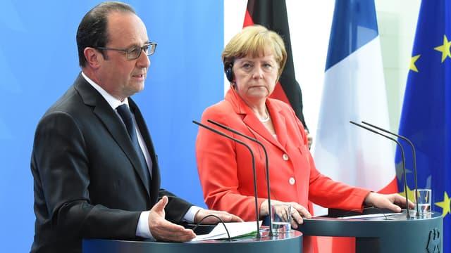 François Hollande et Angela Merkel vont s'exprimer conjointement, ce mercredi, devant le Parlement européen à Strasbourg.