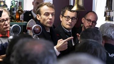 Emmanuel Macron et Gérald Darmanin à Lens, en novembre 2018