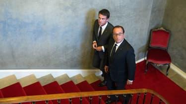 Le président de la République François Hollande et son Premier ministre Manuel Valls