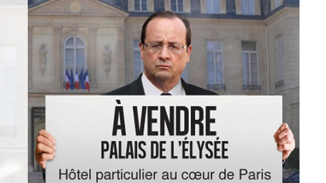 Le site de crowdfunding Crowdimo.fr s'est offert un coup de pub remarqué la semaine dernière, avec la publication dans la presse de ce photo-montage représentant François Hollande sur une pleine page.