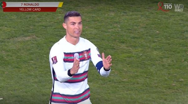 Cristiano Ronaldo en colère lors de Serbie-Portugal