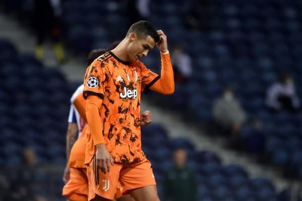 La star de la Juventus Cristiano Ronaldo lors du 8e de finale aller de Ligue des champions à Porto, le 17 février 2021