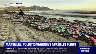 Marseille: pollution massive sur les plages suite aux intempéries