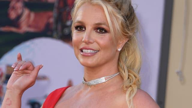 Britney Spears lors d'une avant-première à Hollywood (États-Unis), le 22 juillet 2019.