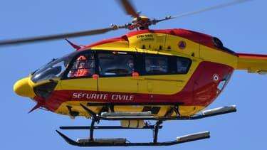 Un hélicoptère de la sécurité civile (Photo d'illustration)
