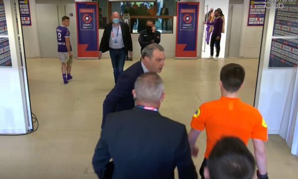 La colère de Damien Comolli contre l'arbitre après Nantes-Toulouse