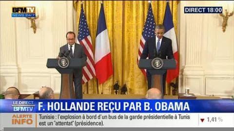 Lutte contre Daesh: La conférence de presse de François Hollande et de Barack Obama
