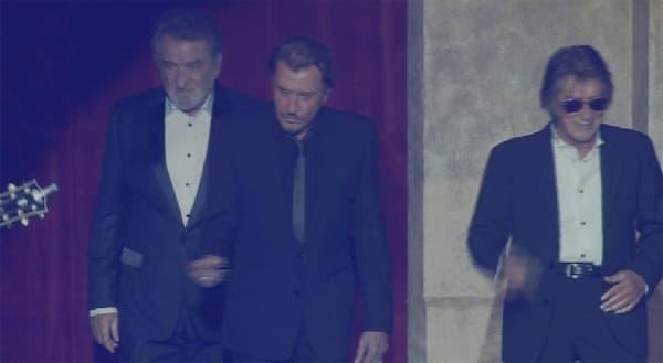 """Eddy Mitchell, Johnny Hallyday et Jacques Dutronc, les """"Vieilles Canailles""""."""